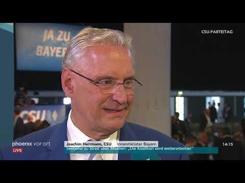 CSU Parteitag: Joachim Herrmann Im Interview Am 15.09.2018
