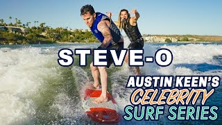 Steve-O Shreds Austin Keen like a Surfboard on Celebrity Surf Series