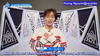 [Vietsub] Visual Top 5 to 1 picked by trainees Produce 101 @EP 5 cut