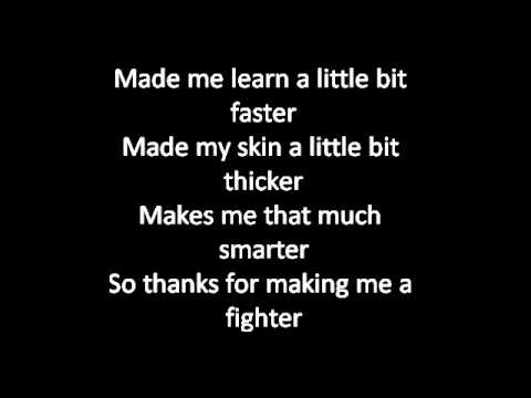 Christina Aguilera - Fighter (Lyrics)