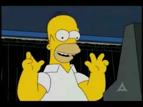 Homer Simpson tries to vote for Obama