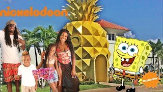 SPONGEBOB HOUSE TOUR in REAL LIFE! Nickelodeon Suites Resort Pineapple Villa in Punta Cana