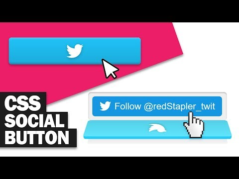Stunning 3D CSS Social Media Buttons Tutorial