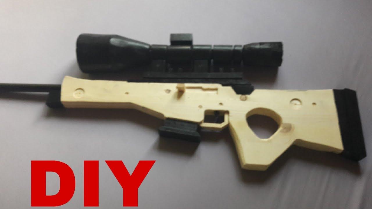 Sniper Fortnite Battle Royale Diy Bolt Action Sniper Youtube