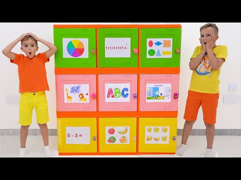Vlad And Niki Learn How To Open Toy Boxes And Solving Logic Challenge