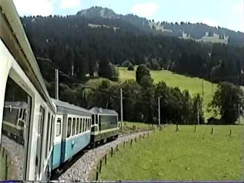 Train Ride out of Interlaken Switzerland