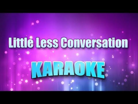 Presley, Elvis - Little Less Conversation (Karaoke & Lyrics)