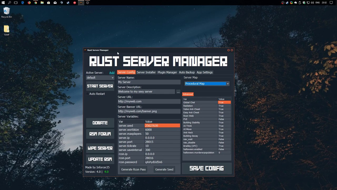 Rust Server Manager - Create and Manage Rust Servers with ease (Updated)