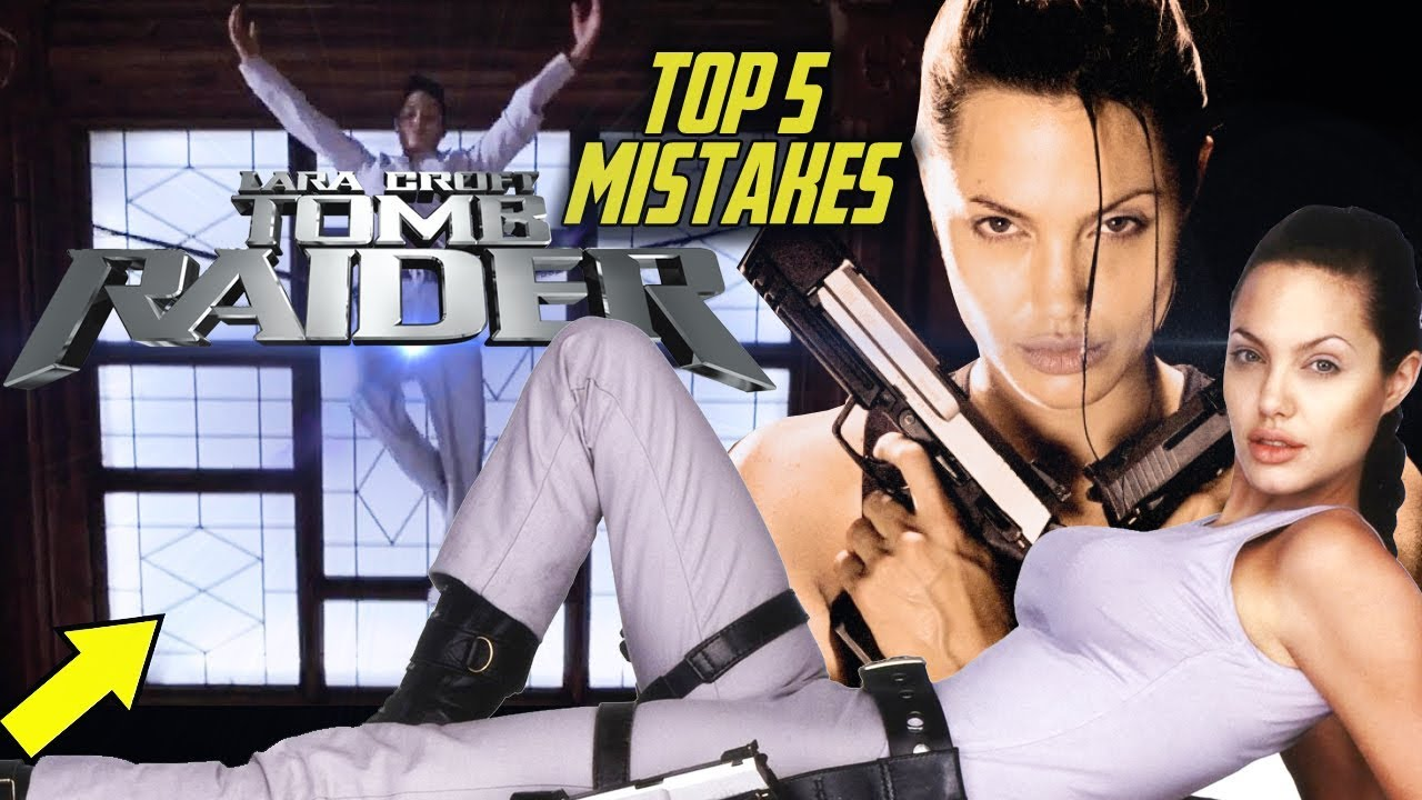 Lara Croft Tomb Raider Top 5 Movie Mistakes 2001 Angelina