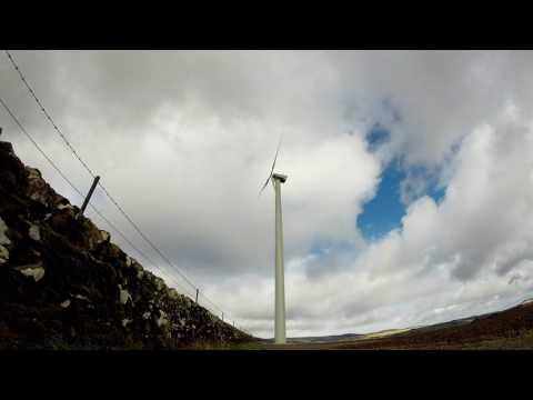 Local wind turbine timelapse. Tannadice, Angus