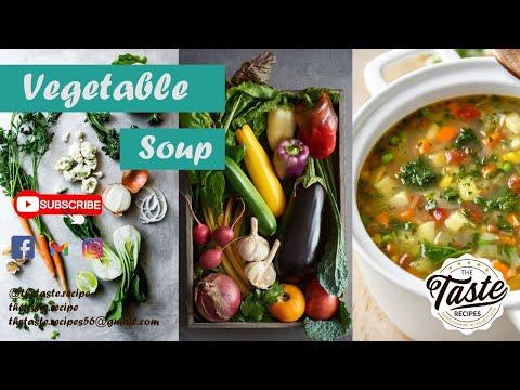Vegetable Soup | The Taste Recipes | Healthy vege soup recipe | #healthysoup #vegan