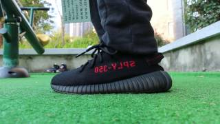 bdaabf034cc7 Adidas Yeezy Boost 350 V2 Black Red On Feet HD Review From Trade666a.cn  Daniel