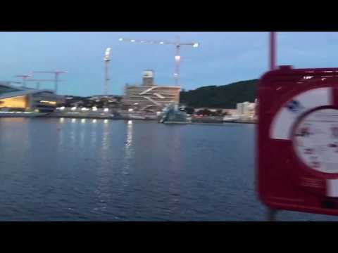 Oslo waterfront by by elbike by the opera and a floating sauna!