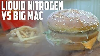 Liquid Nitrogen vs McDonald's Big Mac (w/ Crazy Russian Hacker)