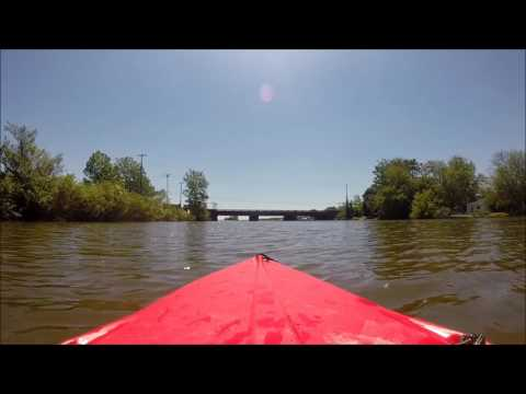 Kayaking the Huron River - Hull's Trace - boat launch West Jefferson & Harbin Rd - Part 1