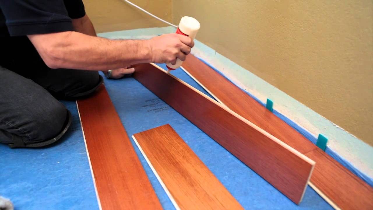 How to install a hardwood floating floor youtube for Floating hardwood floor