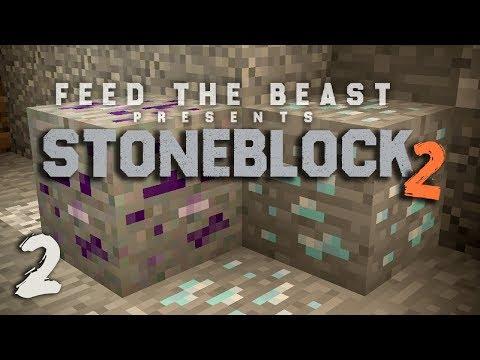 StoneBlock 2 Modpack Ep. 2 Mining Dimension + Mob Farm