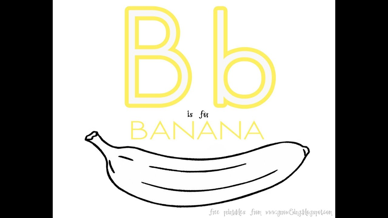 B Is For Banana Song