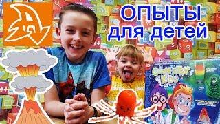 Опыты для детей. Вулкан. Осьминог. Chemistry kids. Experiments for children.
