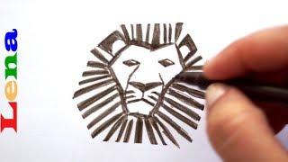 Den König der Löwen zeichnen  🦁 How to draw a Lion King  🦁 как нарисовать льва - король зверей
