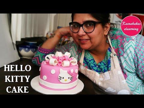 How to make hello kitty cake: Cake Decorating