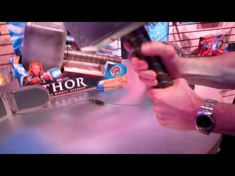 Hasbro Toy Fair 2011 - Marvel Thor Deluxe Hammer Demonstration 2.MOV