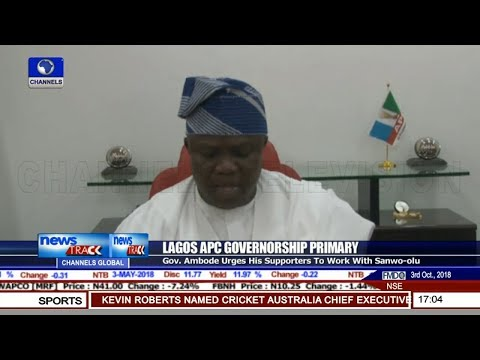 Lagos APC Primary: Ambode Concedes Defeat, Congratulates Sanwo-Olu