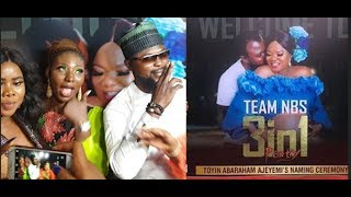 Toyin Abrahams 3-in-1 naming ceremony As Her Husband Storm In And Dance With Toyin Titans