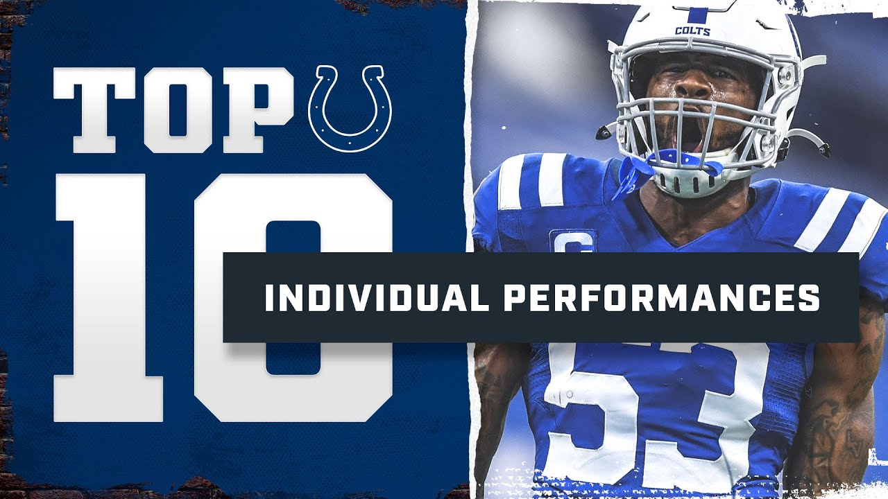 Best Individual Performances of the 2020 Season   Colts Top 10