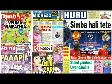 Michezo na udaku Magazetini leo Jumatano 18/10/2017:Simba hali tete
