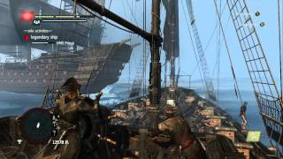 Repeat youtube video Assassin's Creed 4 Black Flag - Legendary Ship Battle - HMS Prince