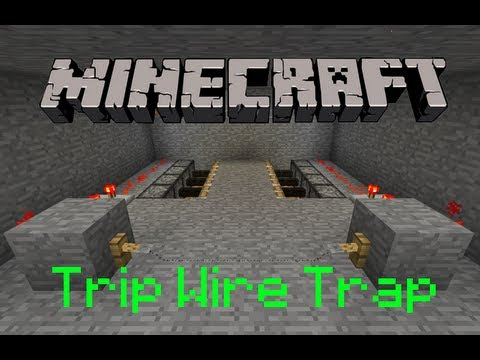 Minecraft How To Make A Trip Wire Trap Youtube