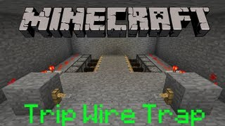 Minecraft: How To Make a Trip Wire Trap