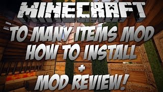 Minecraft 1.8 Too Many Items Mod Review + How To Install w/ Download!