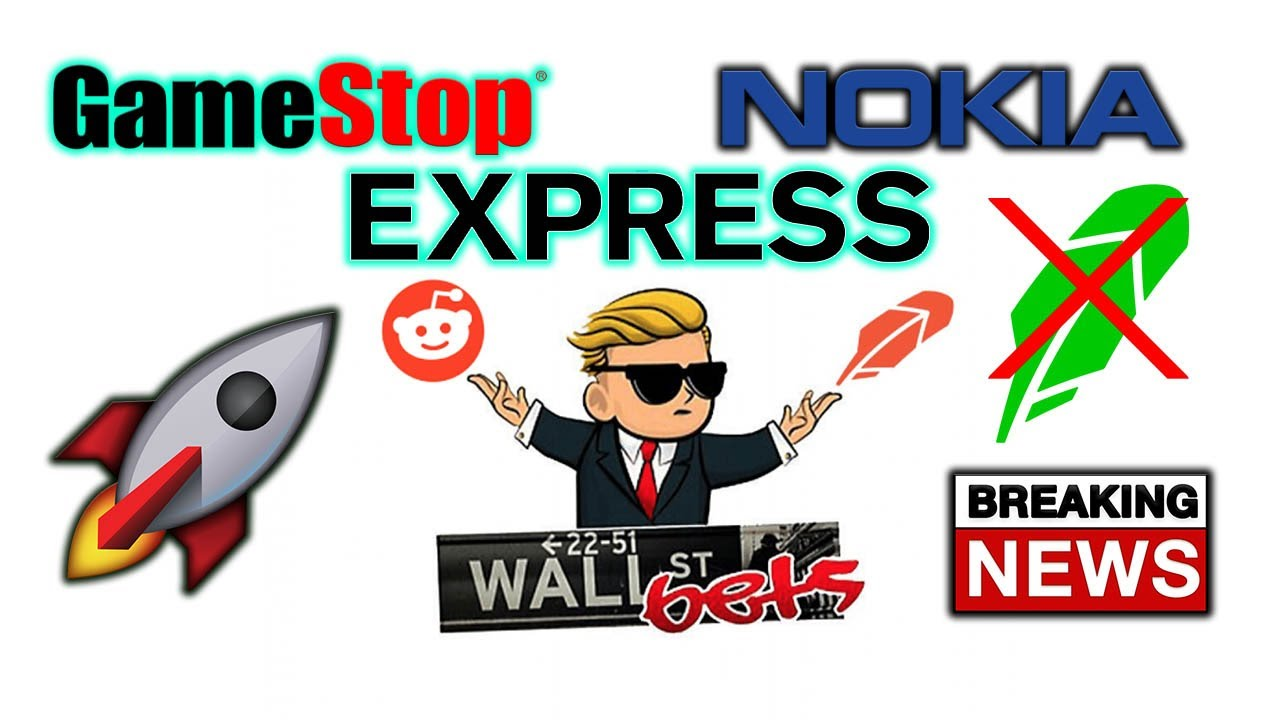 Wallstreetbets Gme, NOK, BB, EXPR END GAME Stock Short Squeeze Video