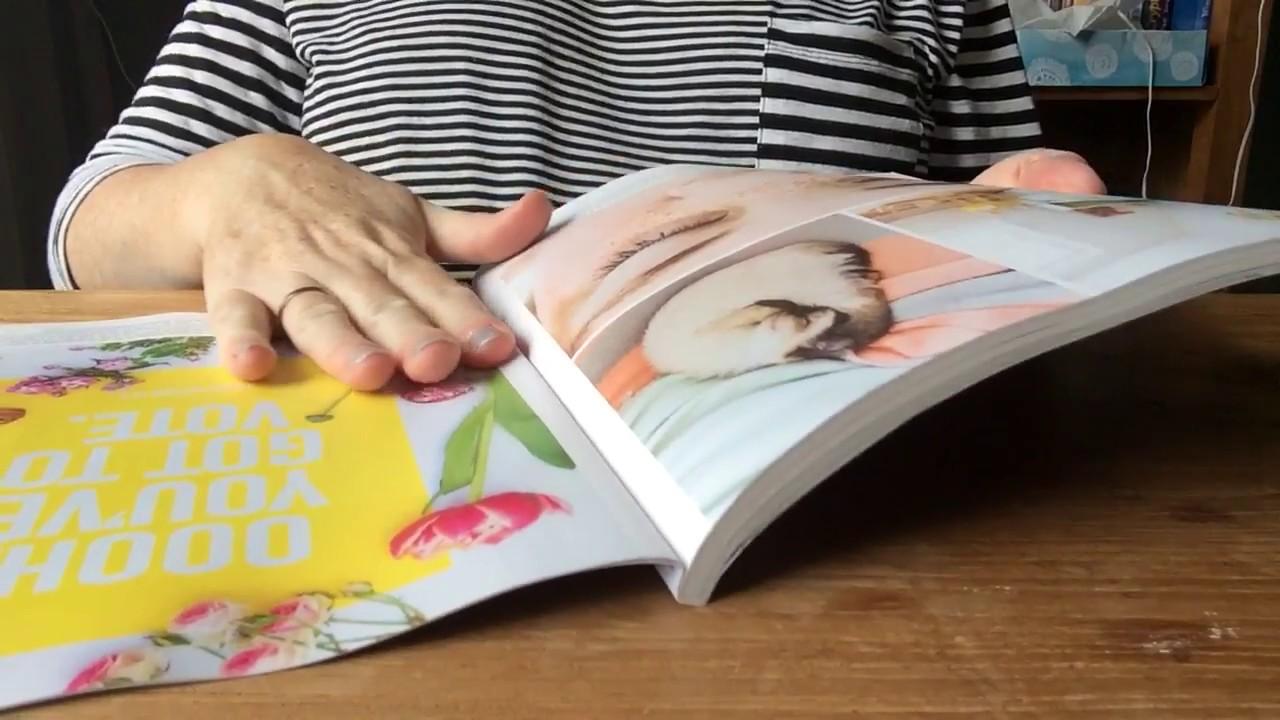 ASMR backwards page turning through magazines (request)