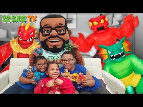 ZZ Dad Transforms into Goo Goo Toonz! Ninja Challenges with Heroes of Goo Jit Zu Series 2