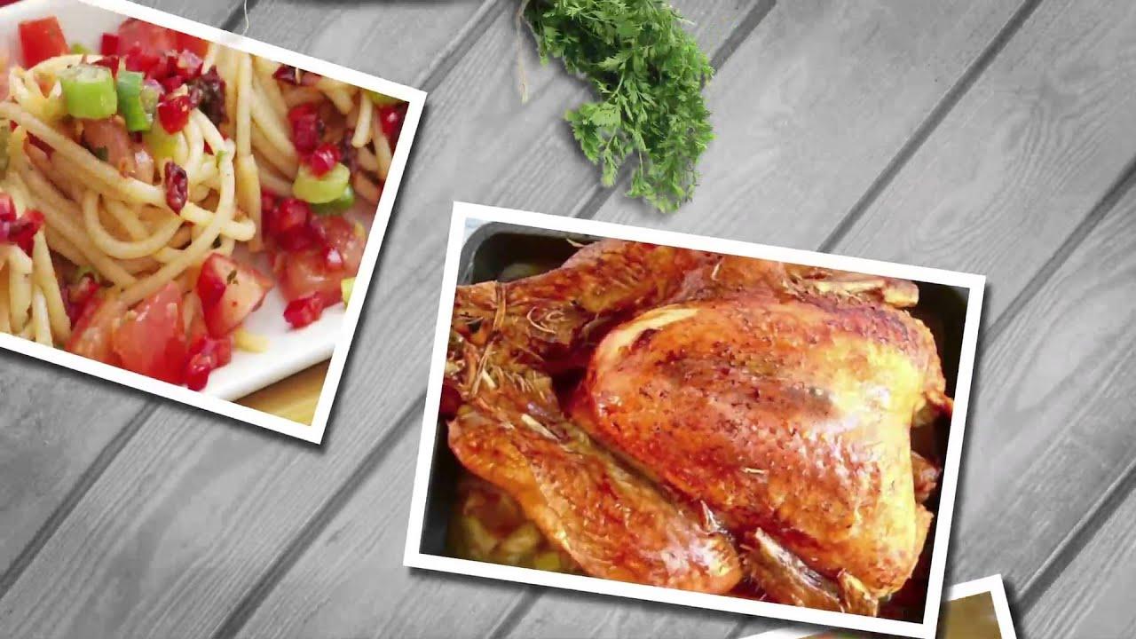 دجاج بصلصة الكزبره والريحان - تارت كراميل التفاح - سمك فيليه : زعفران وفانيلا حلقة كاملة