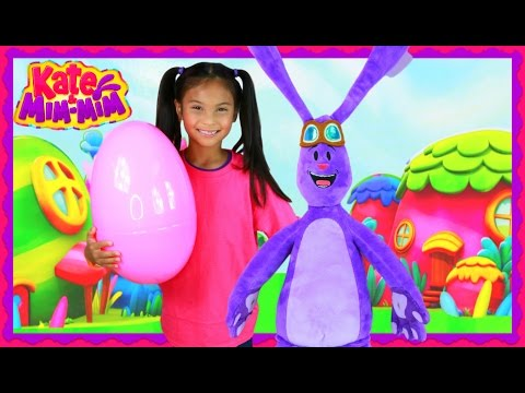 Kate & MimMim Dress UP In Real Life IRL GIANT EGG SURPRISE TOYS  Disney Junior Kids Videos
