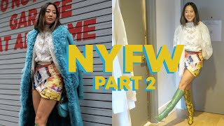 NYFW Part 2: Get ready with me, Self-portrait, Zimmermann, and Oscar de la Renta