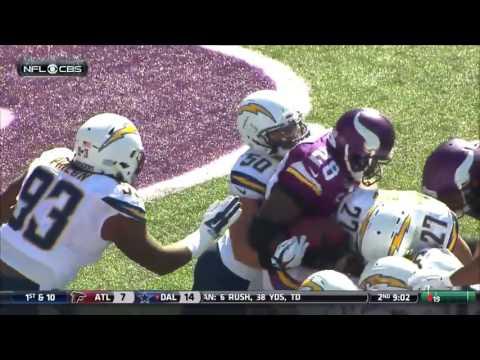 San Diego Chargers @ Minnesota Vikings 2015 Week 3 (Condensed)
