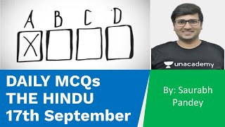17th September | Current Affairs Based Daily MCQs | UPSC CSE/IAS 2020 | Saurabh Pandey