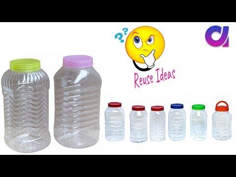 best out of waste crafts idea of Plastic jar | DIY HOME DECOR | Artkala 395