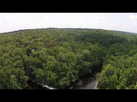 Aerial of Stewarts Landing, Upstate New York
