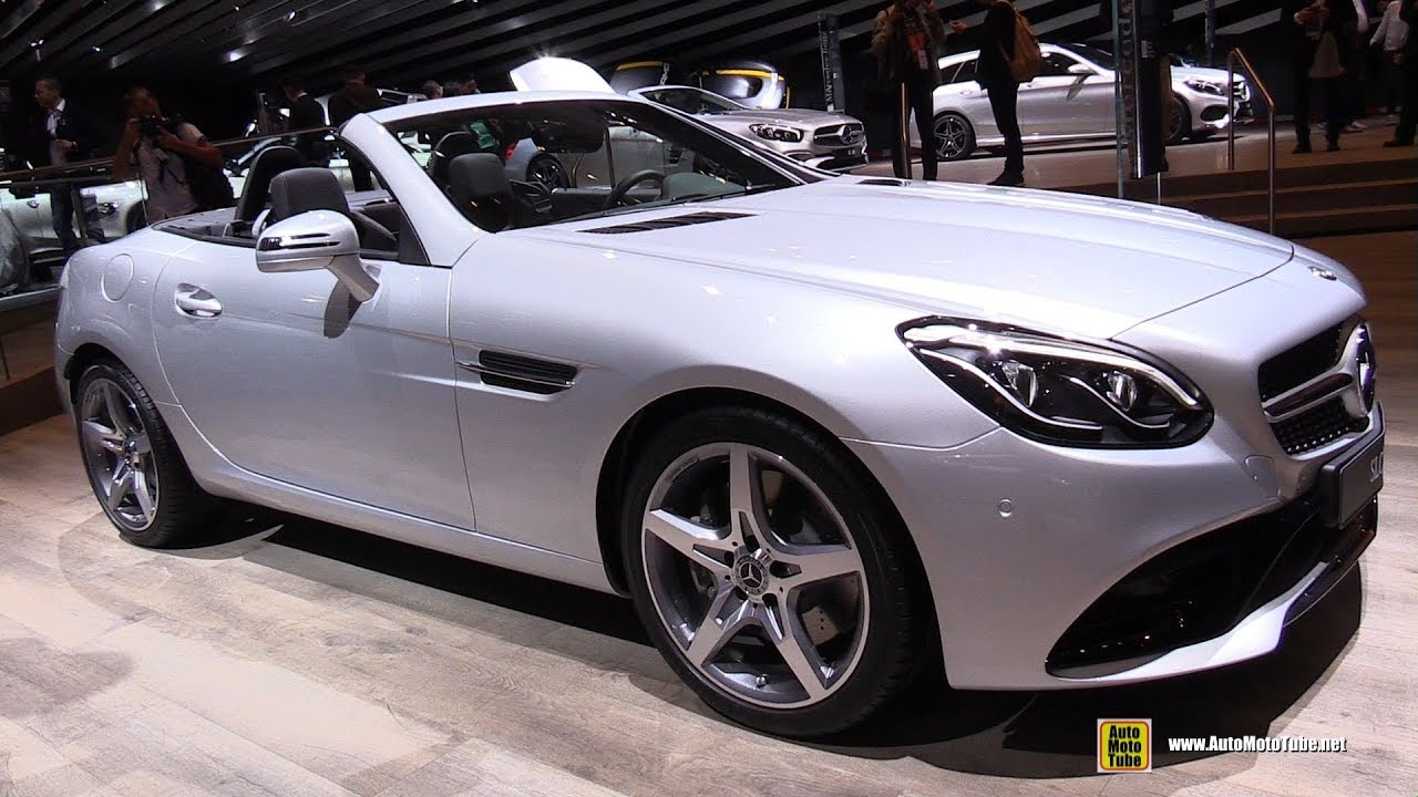 2018 mercedes slc 200 exterior and interior walkaround 2017 frankfurt auto show youtube. Black Bedroom Furniture Sets. Home Design Ideas