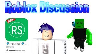 The Free Robux Game Controversy (Roblox Disscusion)