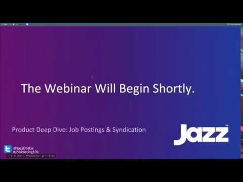 Product Deep Dive: Job Postings & Syndication