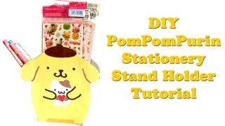 PomPomPurin Pencils/ Pen Stationery Stand Holder Tutorial