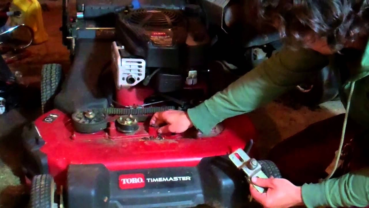 Replacing Pully On 30 Inch Toro Timemaster Youtube