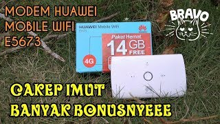 Unboxing & Hands On Modem Huawei E5673 : Modem 4G Unlocked All Operator Indonesia, Mantap Banget